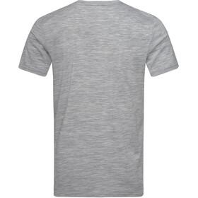 super.natural Graphic Camiseta Idyle Impresión Hombre, ash melange/jet black